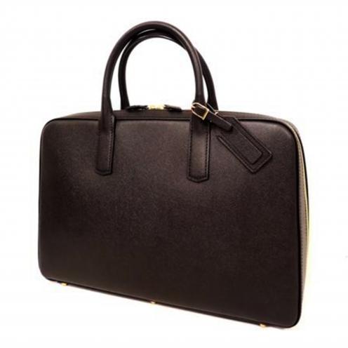 大峡製鞄(OOBASEIHOU) スリムオーバーナイト ジャーマンシュリンク レザーブリーフケース