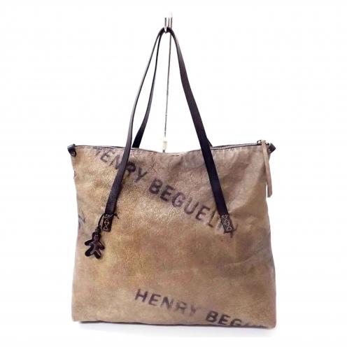 エンリーベグリン(HENRY BEGUELIN) プリントレザートートバッグ