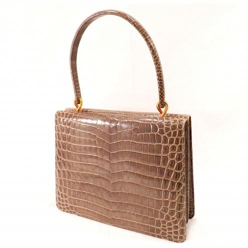 モラビト(MORABITO) ヴァンドーム(Vendome) クロコダイルハンドバッグ