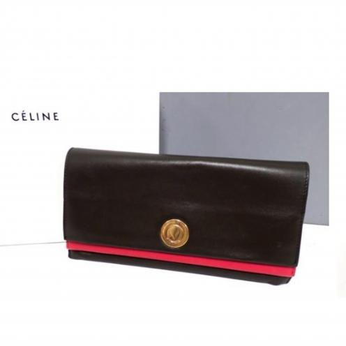 セリーヌ(CELINE) バイカラー フラップ式クラッチバッグ