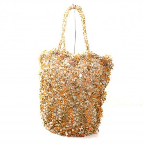 アンテプリマ(ANTEPRIMA) クロス ビーズ装飾 ワイヤー ハンドバッグ