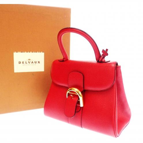 デルボー(DELVAUX) ブリヨン(Le Brillant) 牛革 型押しカーフレザー ハンドバッグ