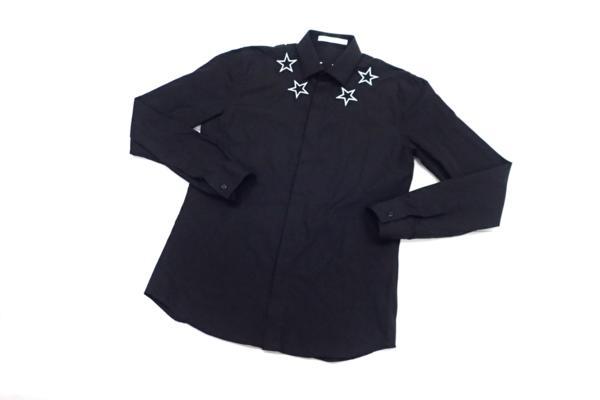 ジバンシィ(GIVENCHY) スター刺繍 長袖ドレスシャツ