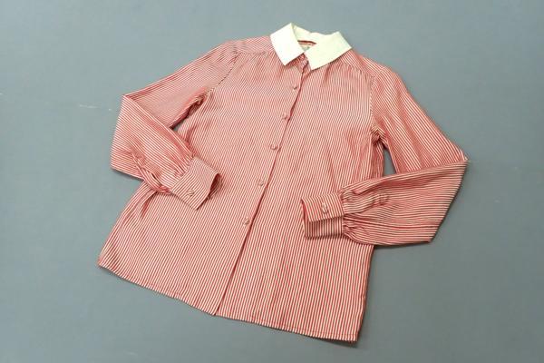 シャネル(CHANEL) ストライプ長袖ドレスシャツ