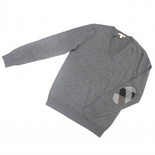 バーバリー(BURBERRY) ブリット(BRIT) エルボーパッチ付きニットセーター