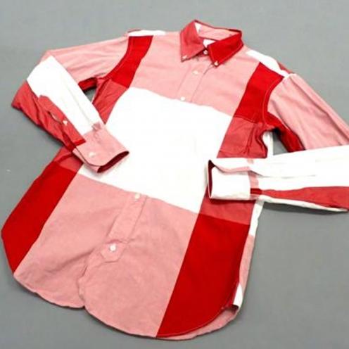 ブラックフリース チェック柄BDドレスシャツ