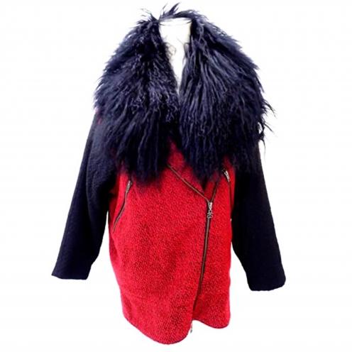 ステューシー(STUSSY) ラムファー付きツイードコクーンコート ジャケット
