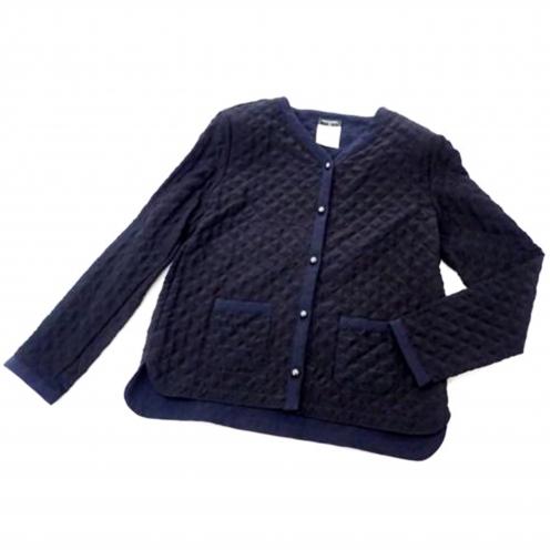 シャネル(CHANEL) 2015AW キルティング マトラッセシルクジャケット