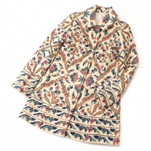 グレースコンチネンタル(GRACE CONTINENTAL) 花柄刺繍ステンカラーコート