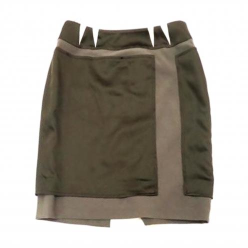 バレンシアガ(BALENCIAGA) バイカラースリットタイトスカート