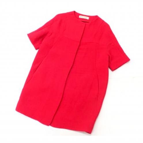 マルニ(MARNI) シルク混 半袖ノーカラーコート