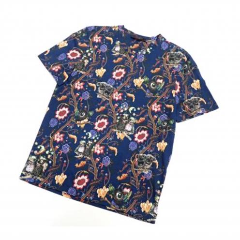 ルイヴィトン(LOUIS VUITTON) 2013年AW チャップマンブラザーズ  ロゴ刺繍入り 総柄プリント半袖Tシャツ