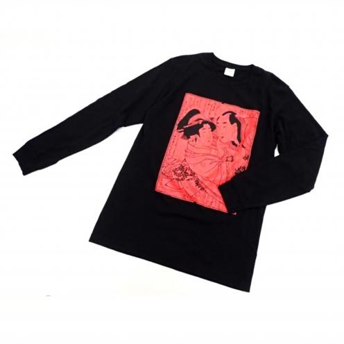 シュプリーム×サスクワァッチファブリックス(Supreme×Sasquatchfabrix) 2016ss Shunga L/S Tee プリント長袖Tシャツ