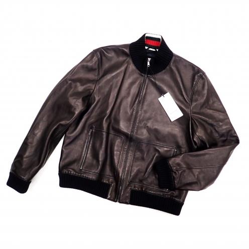 グッチ(GUCCI) 2016AW レザージップアップボンバージャケット ブルゾン シェリーライン