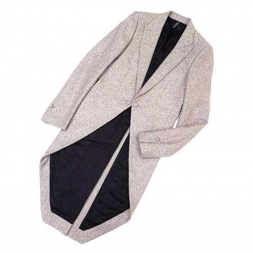ディオールオム(Dior HOMME) 06AW エディ期 カシミヤ混ウール 燕尾ジャケット 1B スモーキングコート