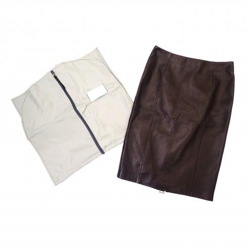 トムフォード(TOM FORD) シープスキン レザージップアップタイトスカート