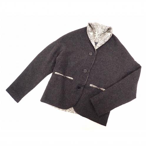 ミナペルホネン(mina perhonen) cordial カシミヤ100%ジャケット