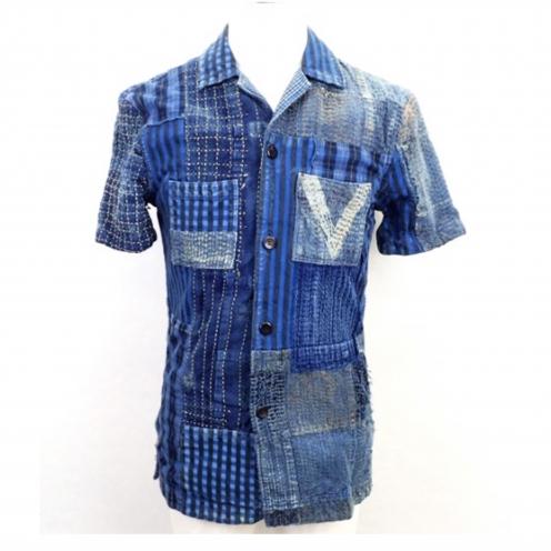ルイヴィトン(LOUIS VUITTON) 2013年SSコレクション BORO 半袖パッチワークシャツ