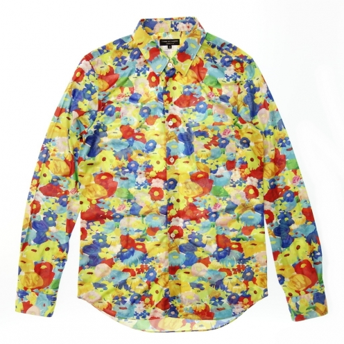 COMME des GARCONS HOMME PLUS コムデギャルソン オムプリュス 16AW フラワープリント ロングスリーブシャツ