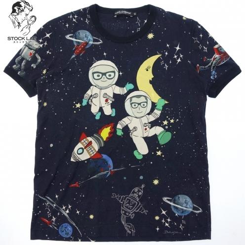 ドルチェ&ガッバーナ 17FW DGmillennials 宇宙柄プリントTシャツ