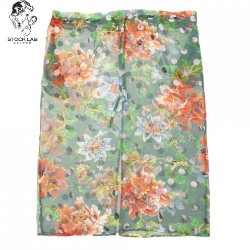 Yohji Yamamoto ヨウジヤマモト シースルー 花柄 スカート