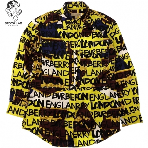 BURBERRY バーバリー 18AW グラフィティプリント ストレッチコットンシャツ