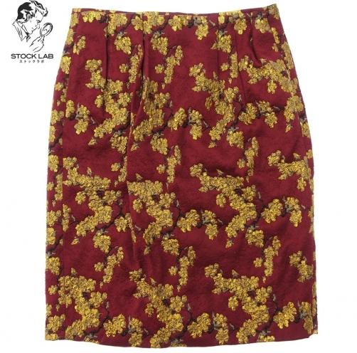 Dries Van Noten ドリスヴァンノッテン 花柄刺繍タイトスカート
