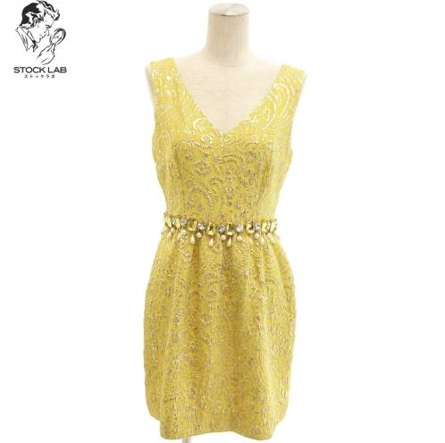 Dolce&Gabbana ドルチェ&ガッバーナ ビジュー装飾 刺繍ワンピース