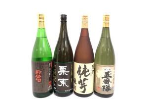 田倉 栗東 国分純芋醸酎 五番隊 一升瓶 芋焼酎4本お売りいただきました! お酒売るならストックラボへ!