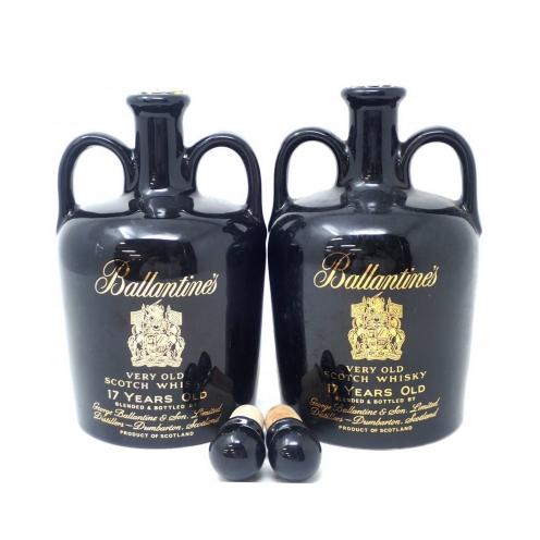 バランタイン(Ballantine's) 17年 陶器ボトル 2本セット 替え栓付き