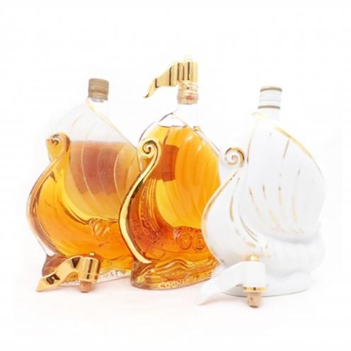 ラーセン(LARSEN) シップボトル&クリアボトル& 白陶器ボトル 3本セット