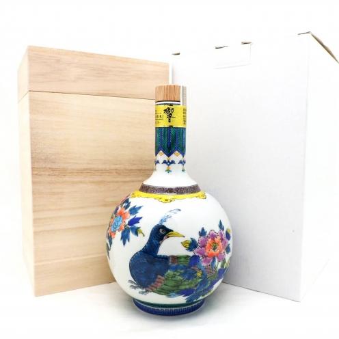 響(HIBIKI) サントリーウイスキー(SUNTORYWHISKY) スペシャルボトルコレクション 九谷焼 色絵華王瑞鳥文瓶 21年
