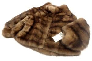 ビスカルディ ロシアンセーブル ハーフコート 高価買取いたしました! 毛皮買取はストックラボにお任せ下さい!