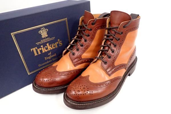 Tricker's トリッカーズ L5676 カントリーブーツ ウイングチップを店頭買取にて東京都中央区にお住いのお客様より高価買取いたしました。