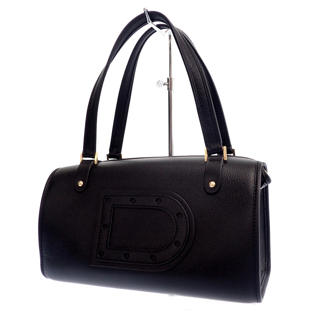 ◆DELVAUX デルボー LE ASTRID MM レザーハンドバッグ 黒