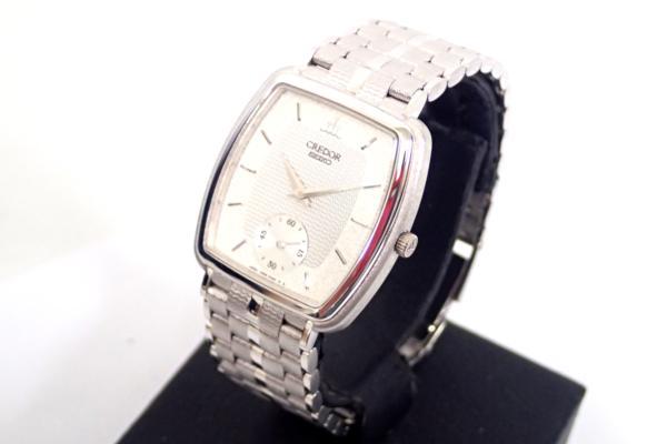 ♦ SEIKO CREDOR セイコー クレドール 6898-5000 18KT WG 手巻き式腕時計