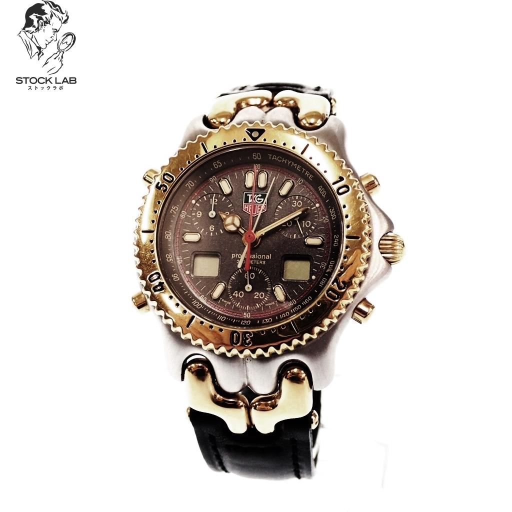 ◆TAG Heuer タグホイヤー セナモデル CG1122-0 SS×GP クォーツ 回転ベゼル 文字盤シルバー 腕時計 ゴールド×黒