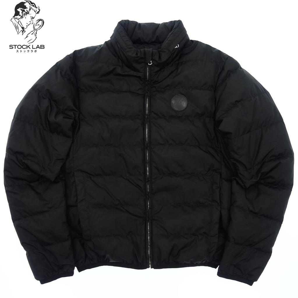 ◆GUCCI グッチ ヒステリアロゴ ジップアップ ナイロンダウンジャケット フード付 48 黒 メンズ