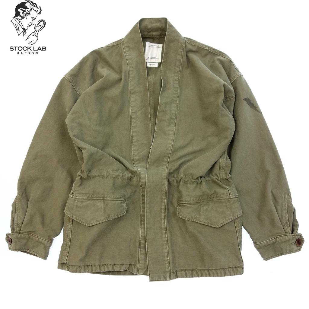 ◆VISVIM ヴィズヴィム 0118205013030 18AW SANJURO BENNY JKT 羽織 ジャケット 1 カーキ メンズ