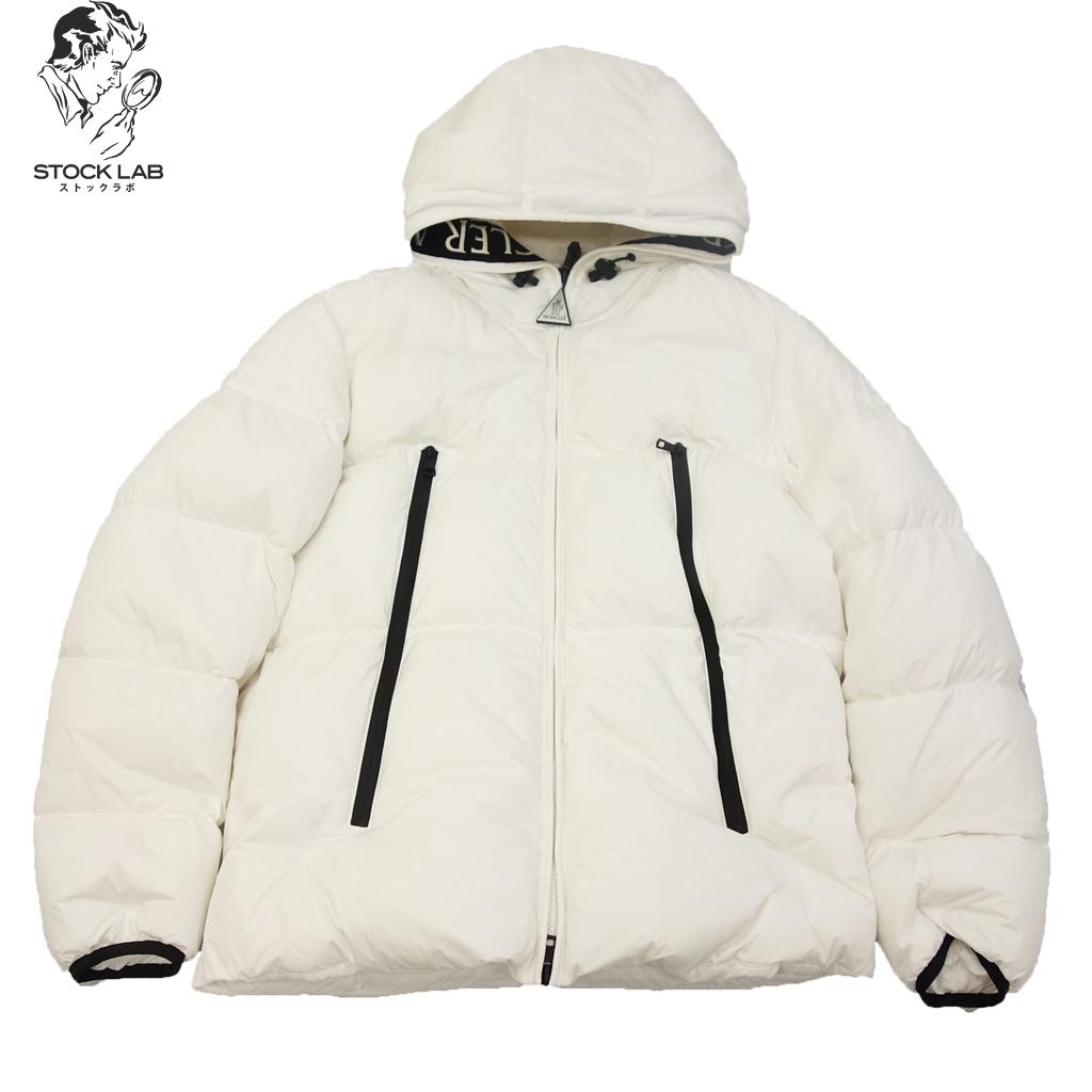 ◆MONCLER モンクレール 19年 MONTCLA モンクラー フード付 ダウンジャケット 国内正規 5 白 メンズ