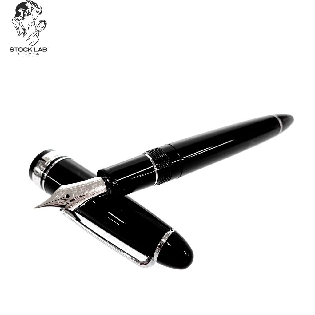 新品同様◆SAILOR セーラー プロフィット21 1911 ペン先21K Au875 MF 万年筆 シルバー×黒 メンズ 箱/ペンケース付き