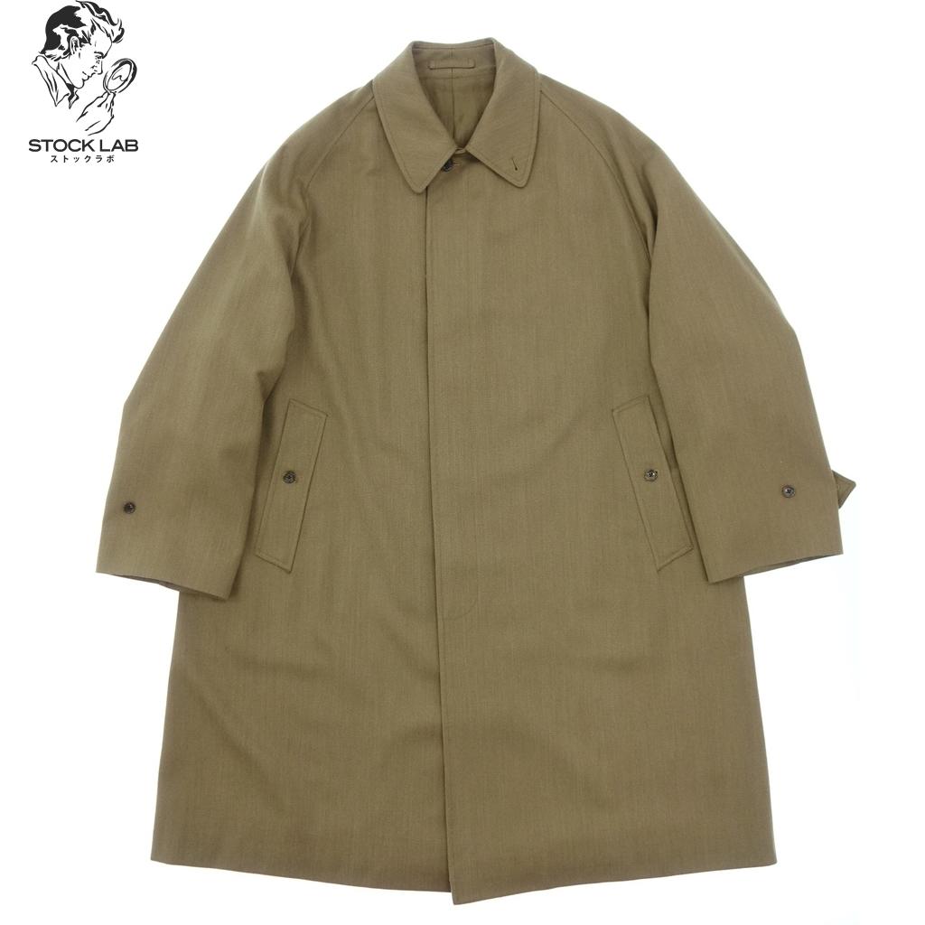 美品◆Anatomica アナトミカ SINGLE RAGLAN COAT 530-182-01 ウール シングルラグランコート 50 茶 メンズ