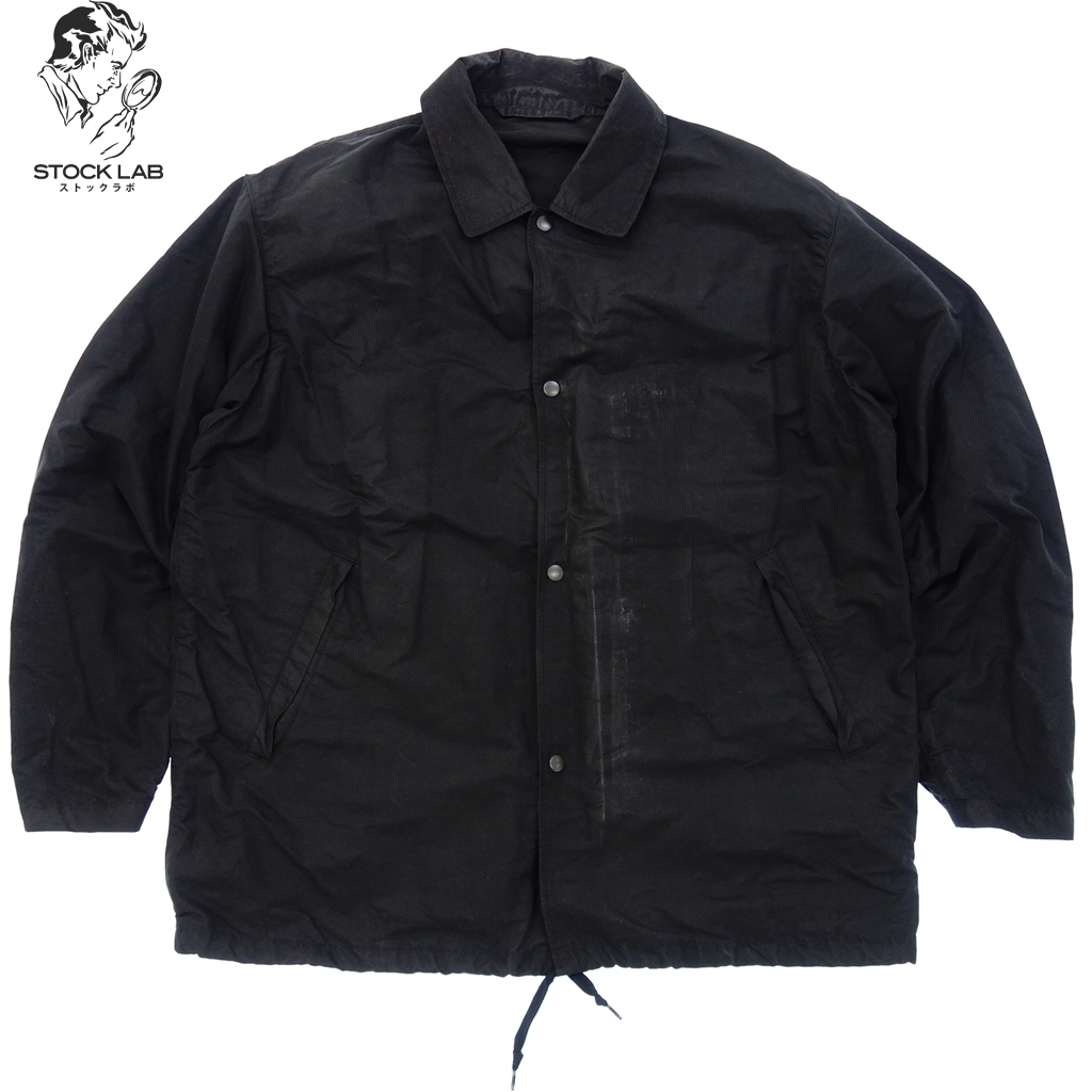 中古◆COMOLI コモリ k-01-01003 17ss コーチジャケット コットン ナイロン スナップボタン 2 黒 メンズ
