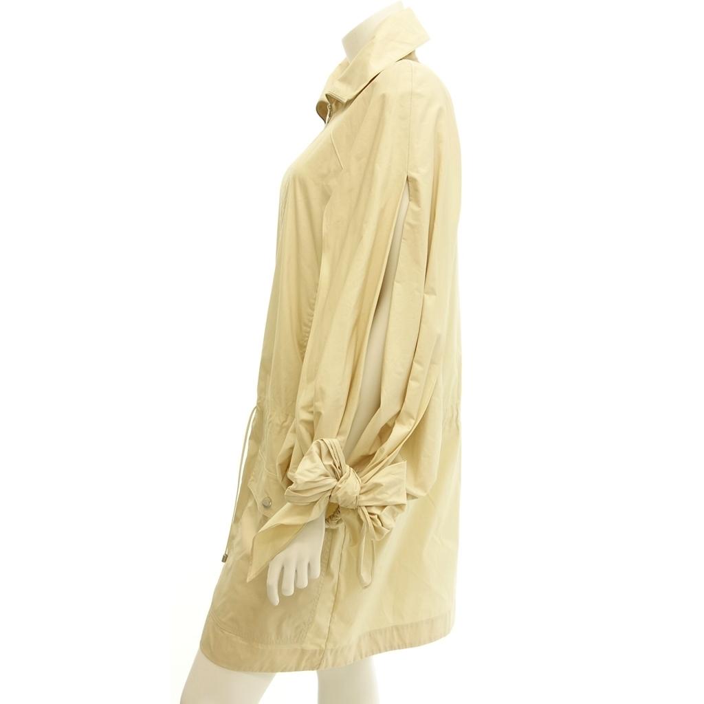 極美品◆CHANEL シャネル P50 リボン ショール付きデザインコート 袖開き 38 ベージュ レディース