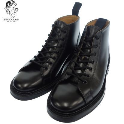 極美品◆Trickers トリッカーズ M6077 レザーモンキーブーツ 5.5 黒 メンズ