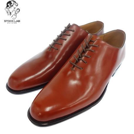 未使用◆大塚製靴 真喜皮革コードバン ホールカットレザーシューズ 7 赤茶 メンズ