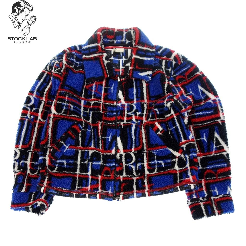 未使用◆ iroquois イロコイ 182214 2018AW TRUE FAITH BOA チェックボアジャケット 1 青 メンズ