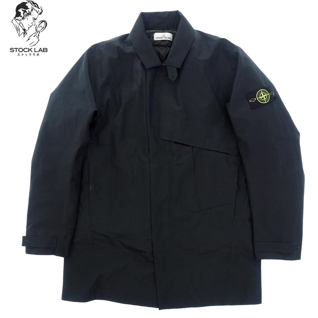 中古◆STONE ISLAND ストーンアイランド ステンカラーコート インナーダウン付き L 黒 メンズ