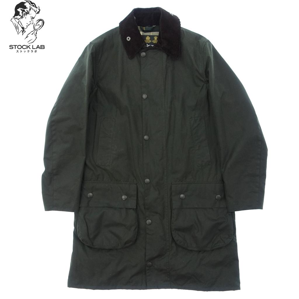 美品◆Barbour バブアー SL BORDER オイルドジャケット 36 緑 メンズ