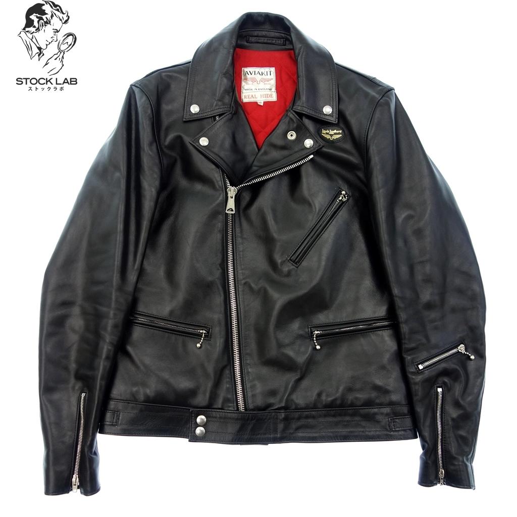美品◆Lewis Leathers ルイスレザー サイクロン ダブルライダースジャケット 馬革 40 黒 メンズ